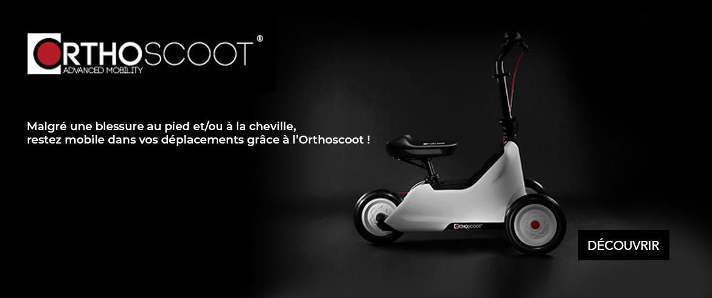 Malgré une blessure au pied et/ou à la cheville, restez mobiles dans vos déplacements grâce à l'Orthoscoot